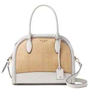 Kate Spade REILEY STRAW LARGE DOME SATCHEL